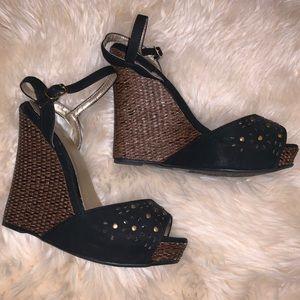 Shoes - Black 7.5 Wedges.